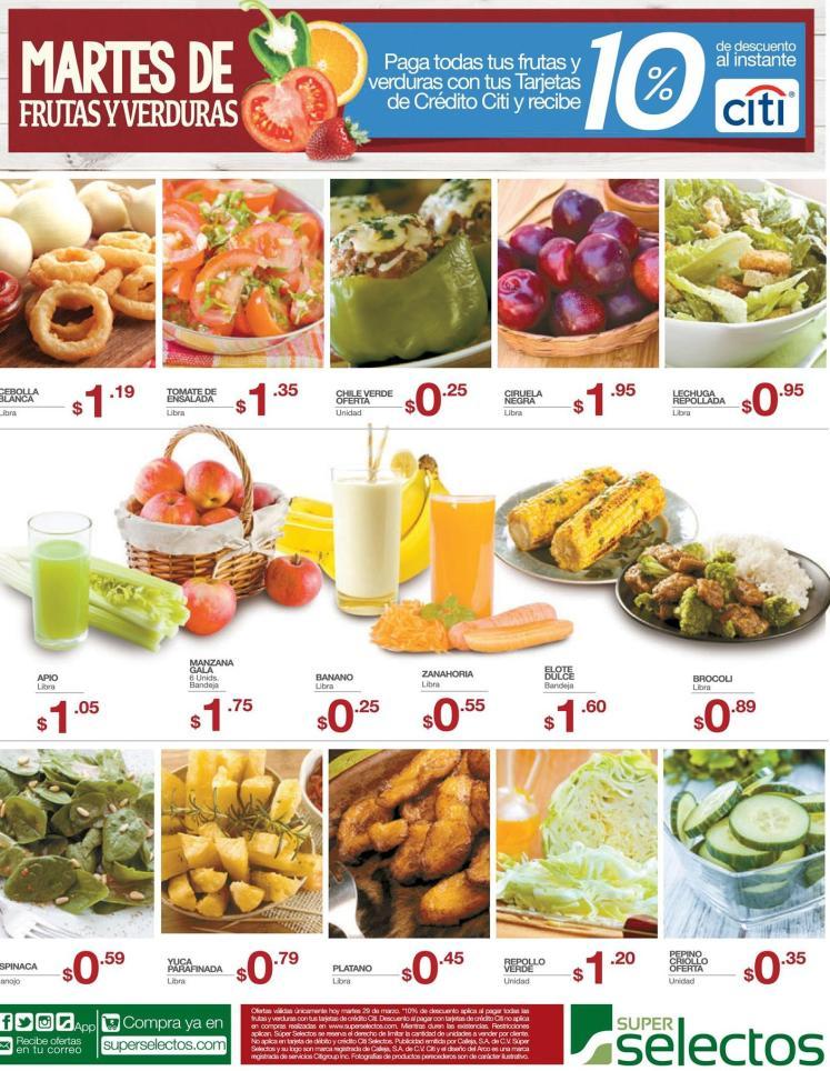 Tus frutas y verduras para tus jugos y meriandas con descuento