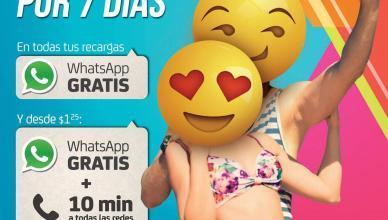 WhatsApp GRATIS en todas tus recargas verano DIGICEL