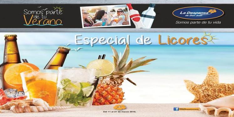 catalogo de ofertas DESPeNSA de don JUAN especial de licores 2016