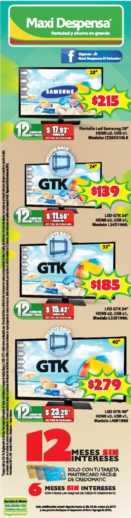 new TV set brand MAXI DESPENSA ofertas televisores