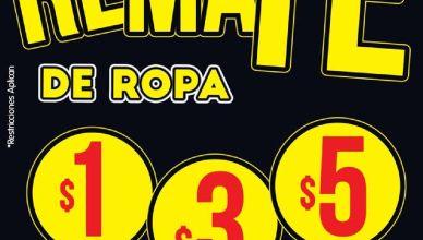Fin de semana REMATE de ropa con precios bajimos en BOMBA almacenes