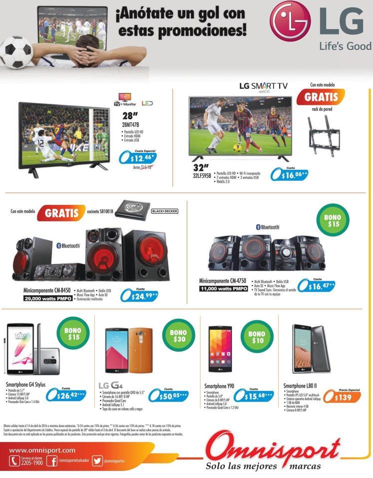 GOL de promociones con imnisport y electrodomesticos LG