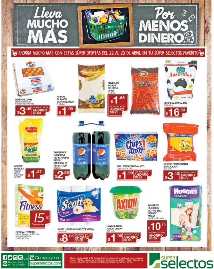 Super ofertas de fin de semana Super Selectos el salvador - 22abr16