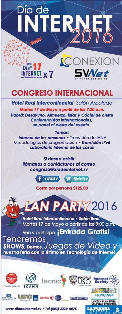 Todo la informacion del evento Dia de internet 2016