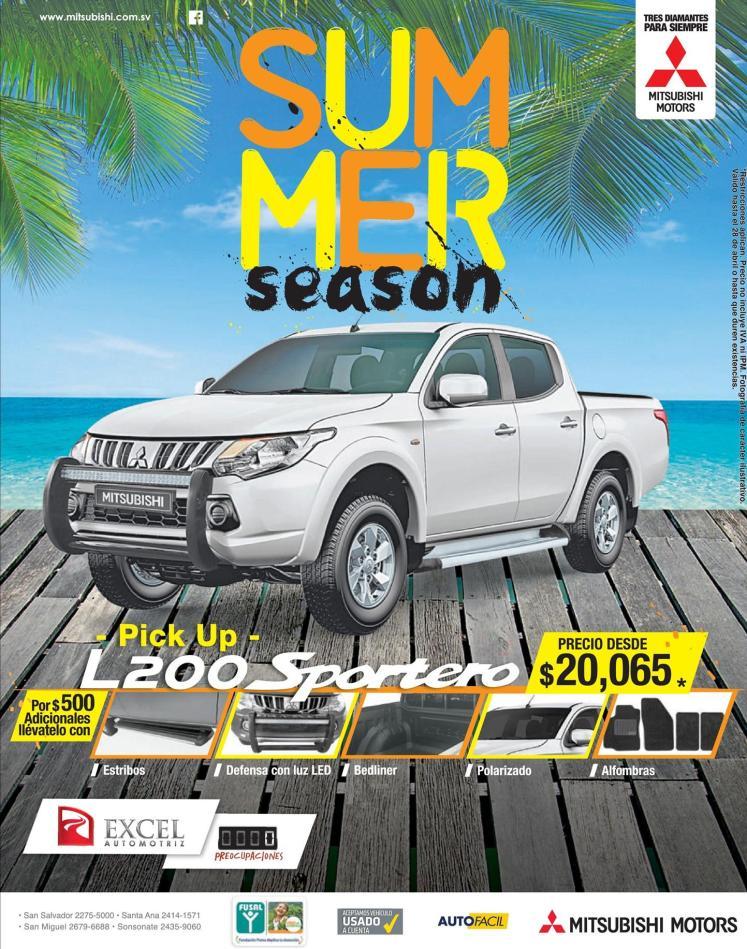 sport pickup for summer vacations MITSUBISHI L200