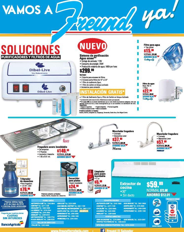 LUNES ofertas de ferreteria FREUND filtros de agua y fontaneria - 16may16