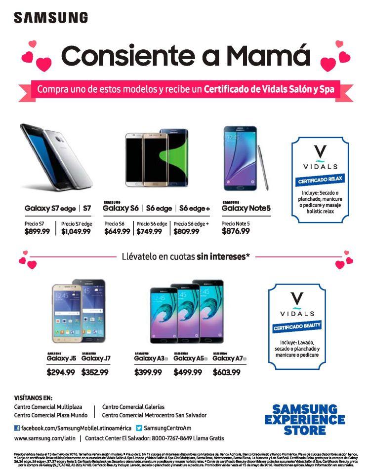 Llevate tu productos SAMSUNG en cuotas y con certificado para mama