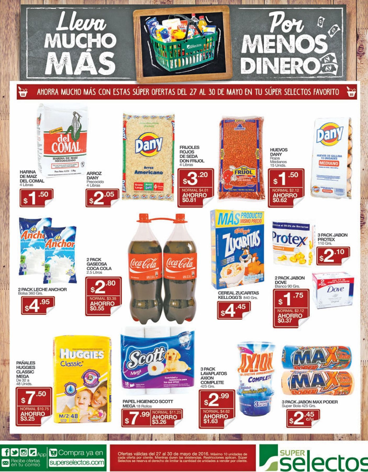 Ofertas del dia en tus productos Super Selectos - 27may16