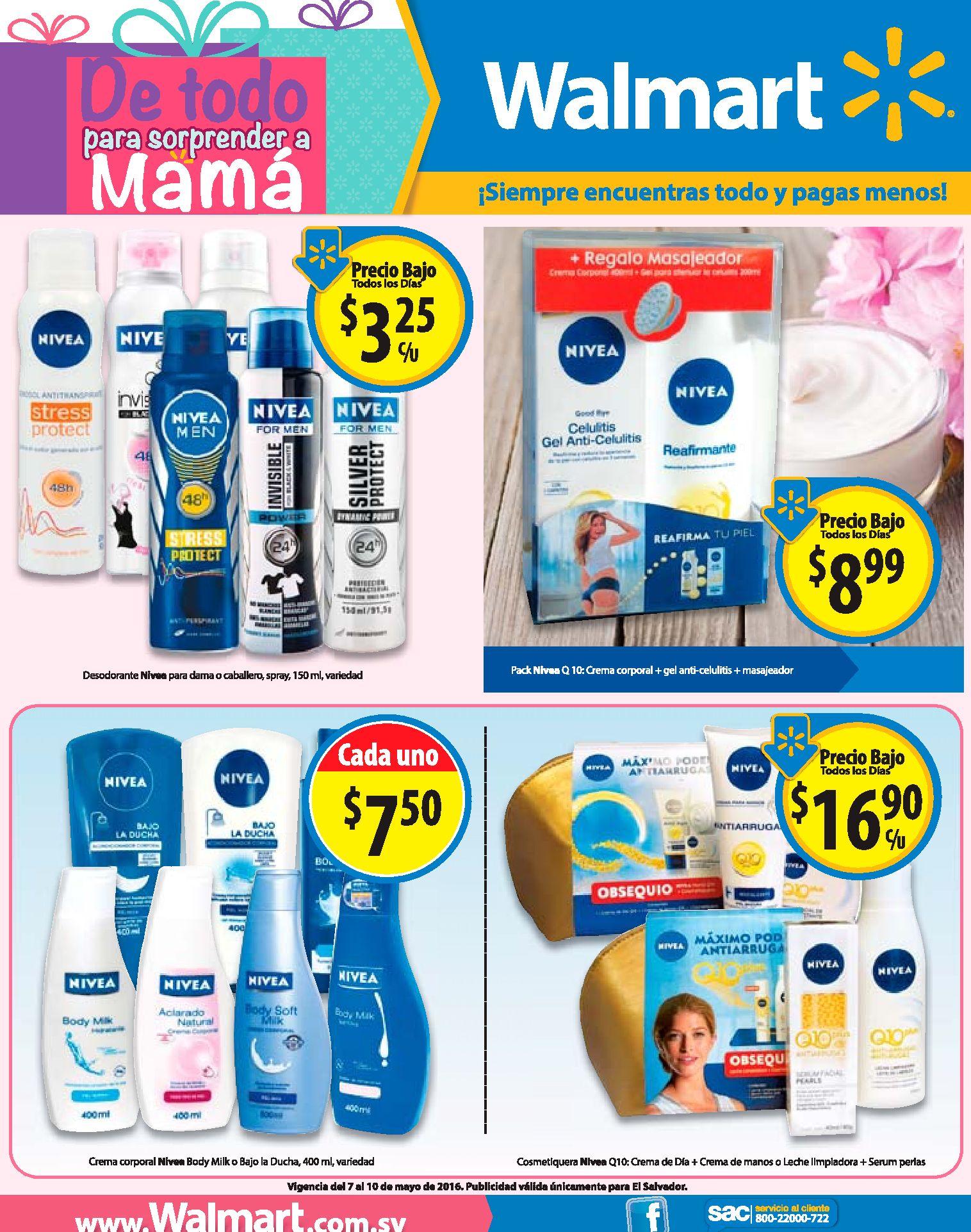 Producto NIVEA en ofertas en almacenes WALMART - 07may16