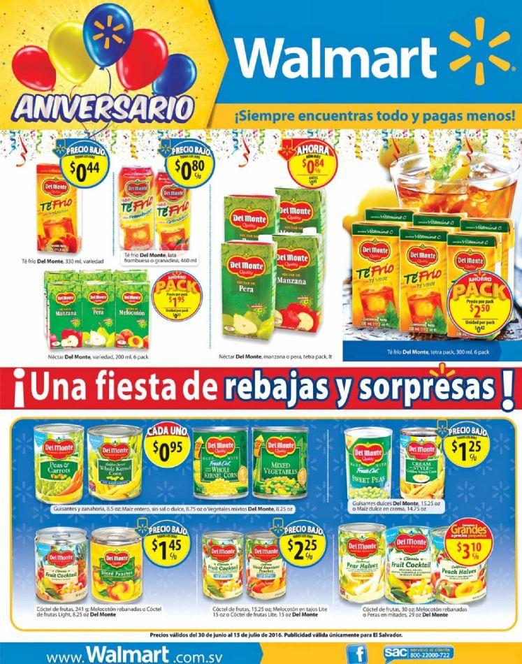 Las ofertas del dia en WAL MART el salvador