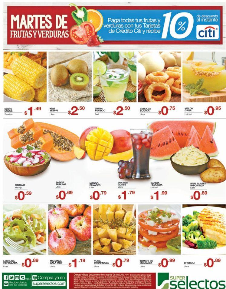 Martes de frutillas y verdurillas en selectos - 28jun16