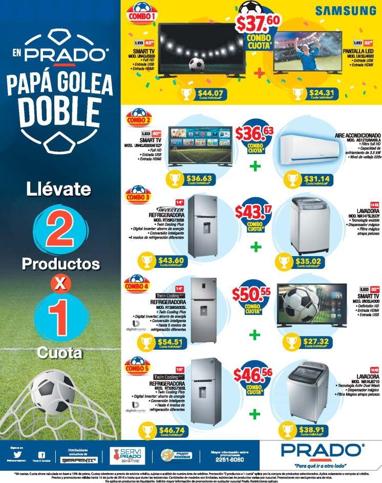 PAPA golea dobles con los promociones PRADO del mes junio 2016