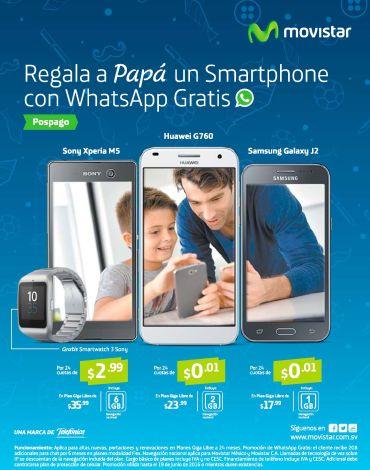 Regala a PAPA un celular con whatsapp GRATIS y smartwatch de movistar