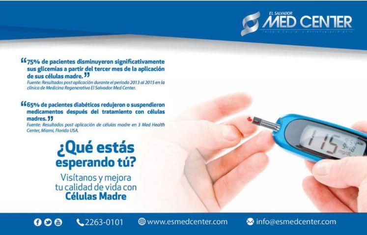Tratamiento para personas diabetica con celulas madre el salvador