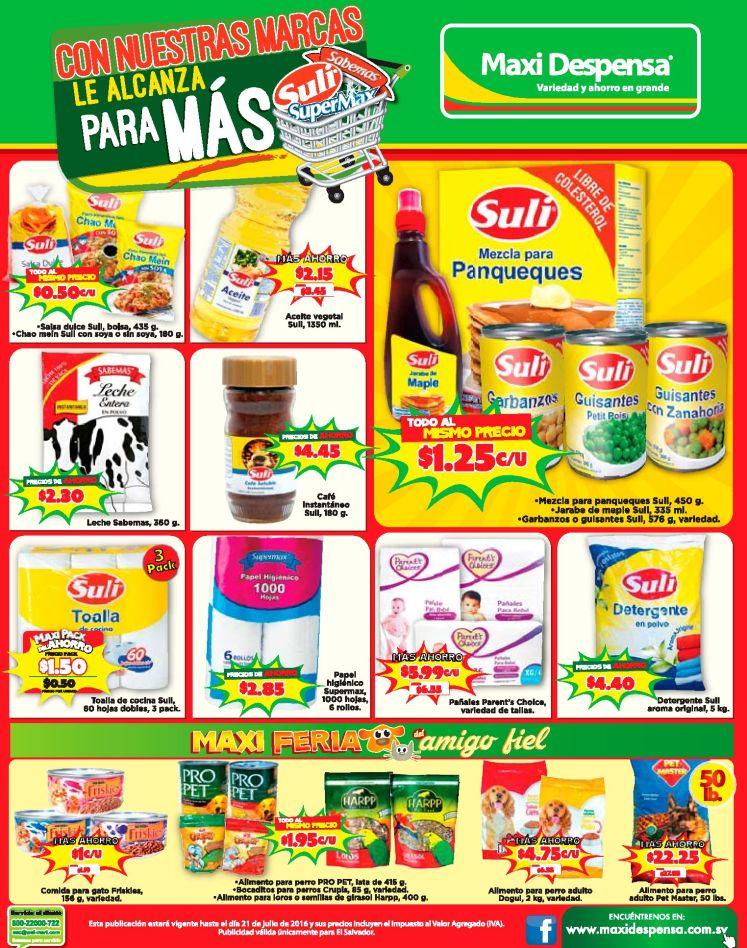 Encuetra los productos con los que se ahorra mas dinero en MAXI DESPENSA