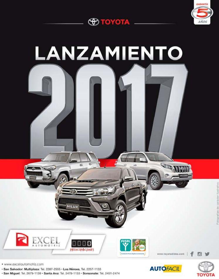 Excel automotriz presenta linea autos toyota 2017