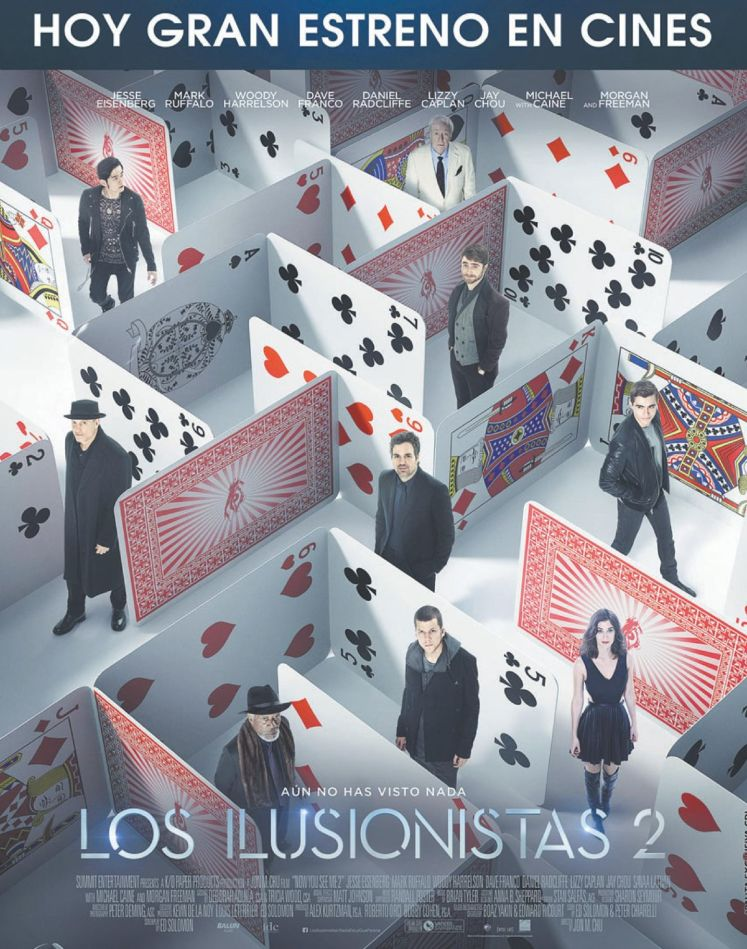 LOS ILUSIONISTAS 2 the movie 2016