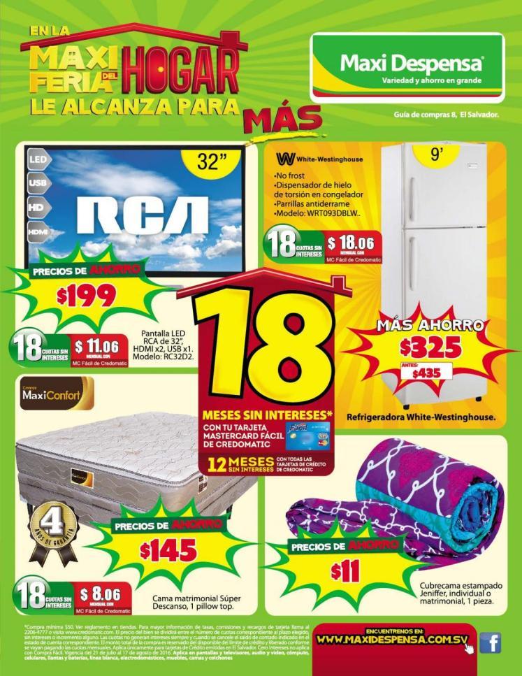 MAXI Feria de Agosto 2016 HOGAR y electrodomesticos