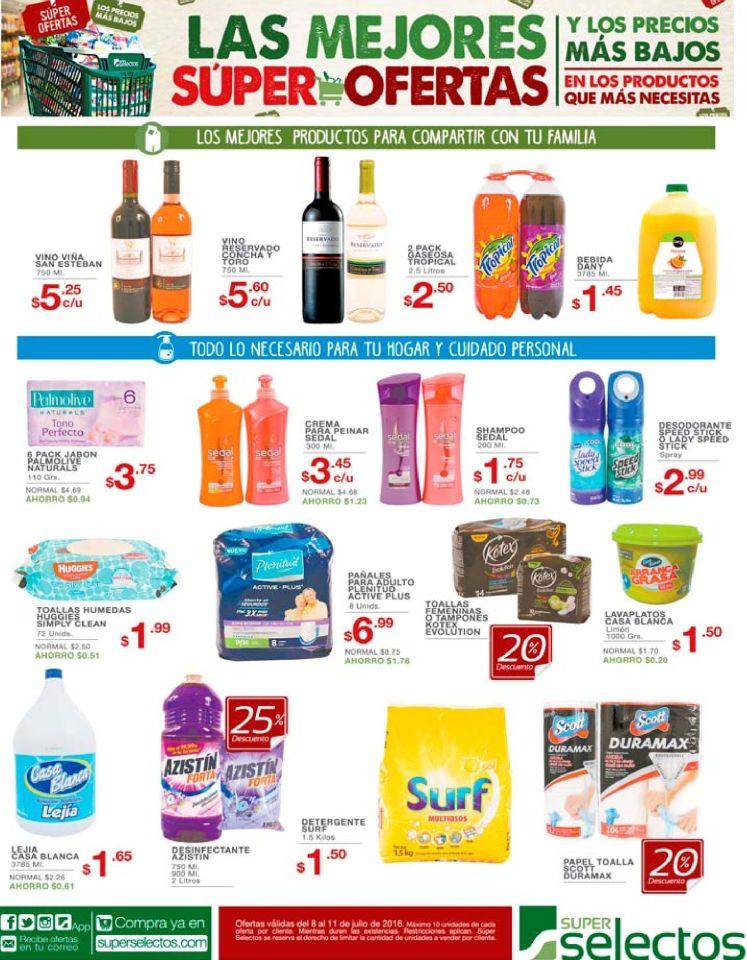 Ofertas del dia en supermercado selectos - 08jul16