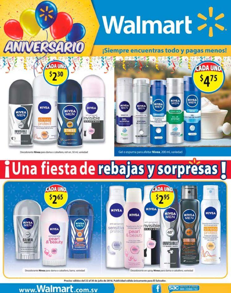 PRODUCTOS NIVEA con grandes ofertas en supermercados walmart el salvador