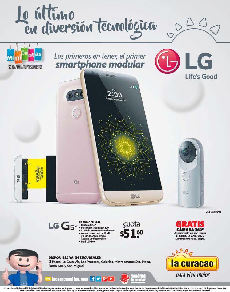 SMARTPHONE modular el salvador LG g5