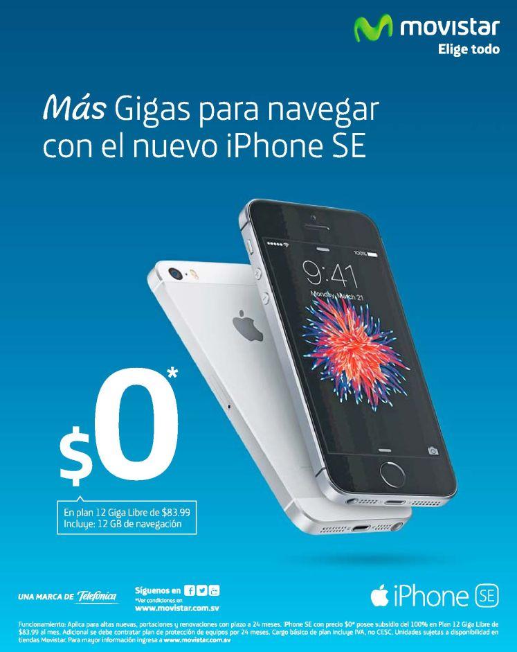 nuevo plan con iPhone SE gracias a MOVISTAR