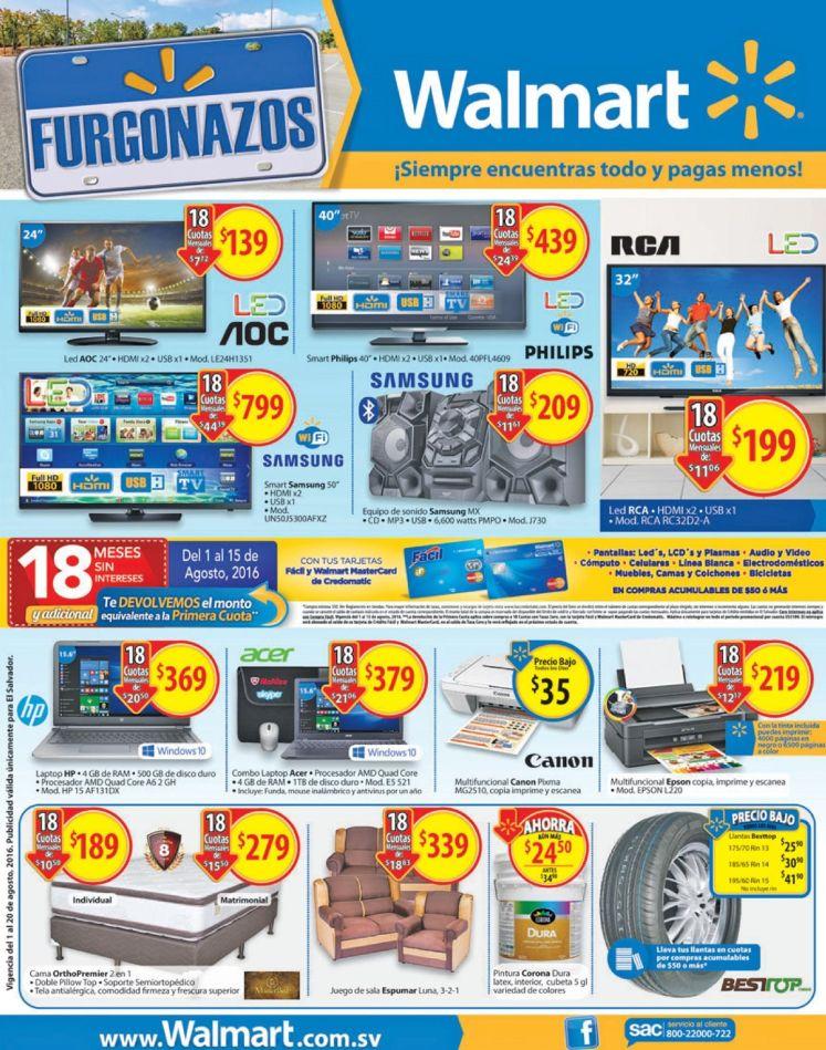 HAY furgonazos agostinos 2016 en WALMART el salvador
