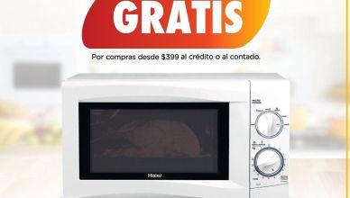 TODAS tus compras te regalamos un horno microondas haier