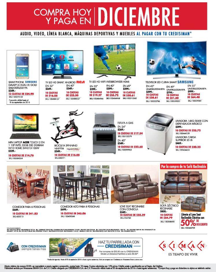 promociones-almacenes-siman-compra-hoy-paga-en-diciembre-2016