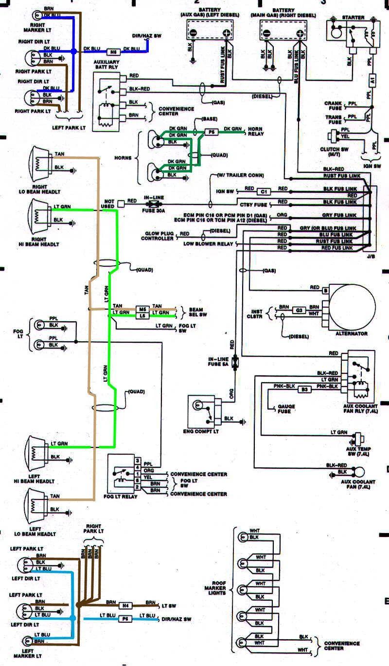 1991 chevy truck wiring schematic