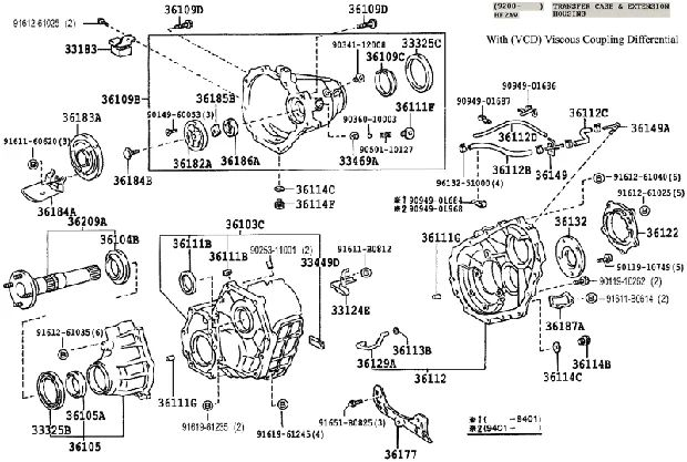 241d transfer case diagram