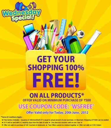 Get 100% Off at AllSchoolStuff only for Today discount 2