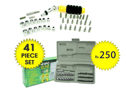 41 Piece Keyas Screwdriver Bit & Socket Set at just Rs.250 only discount 2