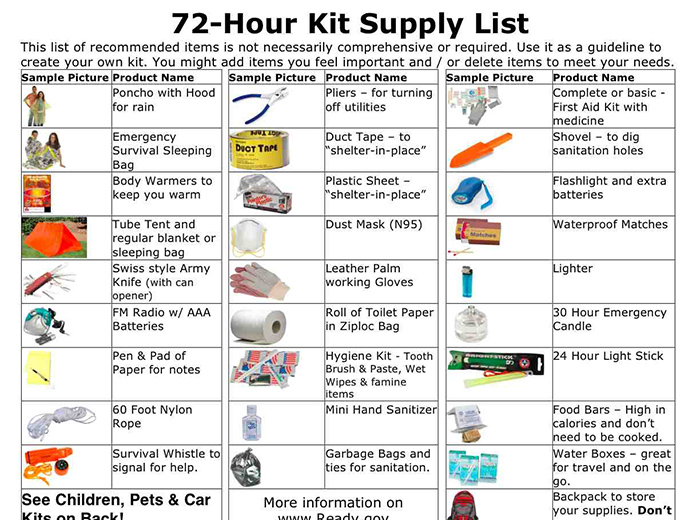 9 Free Emergency Preparedness Printable Lists And
