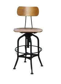 Ming Stool With Back Support - Office Chairs Canada