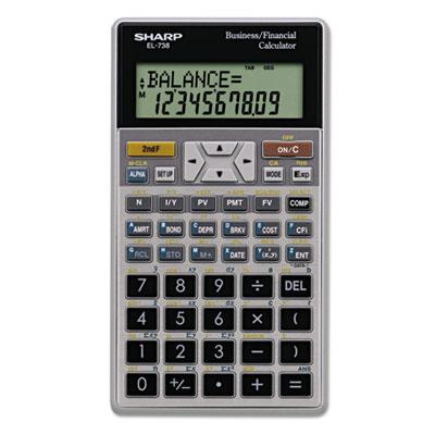 Sharp EL738FB EL-738C Financial Calculator - financial calculator