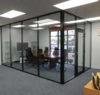 black-aluminum-and-glass-conference-room | Office ...