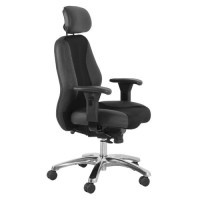 Buro Everest Executive Chair Leather/Mesh Black | OfficeMax NZ
