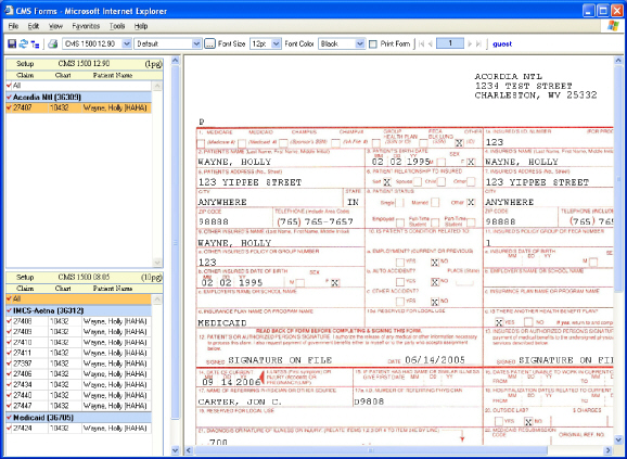 Cms Form Fillable Free Free Printable Medical Claim Forms Acord - sample medicare application form