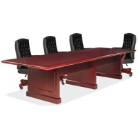 Traditional Conference Table and Chairs Set, Boardroom Set ...