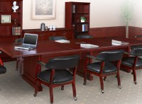Traditional Conference Room Table and Chairs Set, Meeting ...