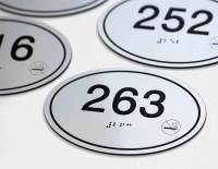 Apartment & Hotel Room Number Signs | Oval Room Number ...