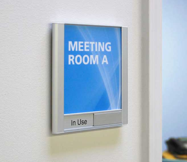 Satin Series Conference Room Sign - Removable Lens (Inserts Sold