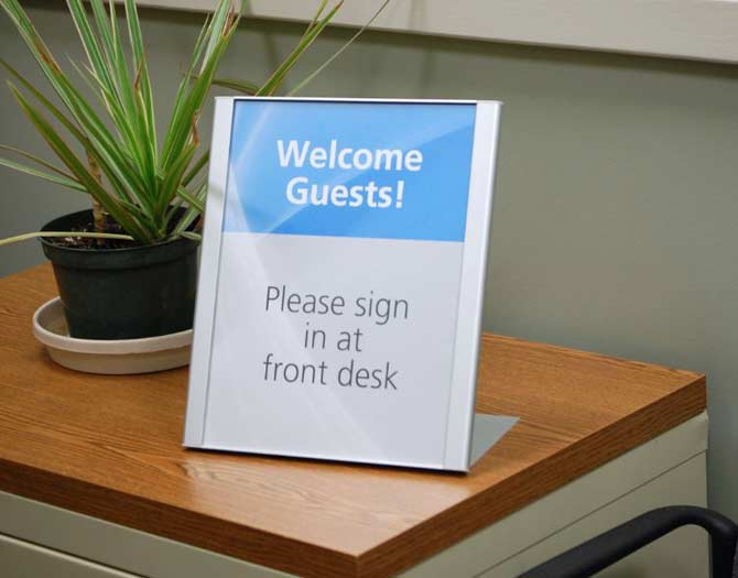 Desktop Signs Reception Signs Front Counter Copay Signs