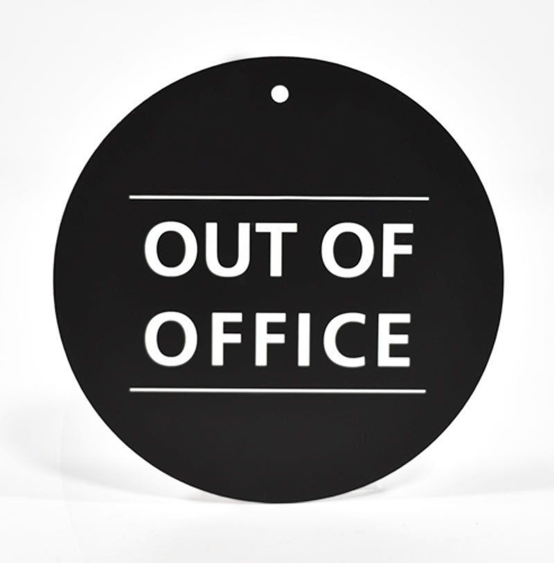 out of office sign template xv-gimnazija