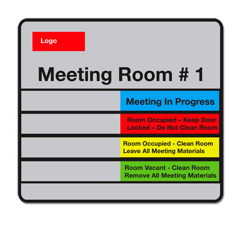 Conference room signs Sliding meeting room signs In Session