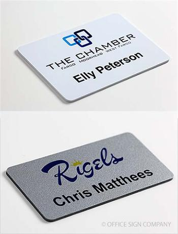 Logo Name Tags Full Color Name Badges
