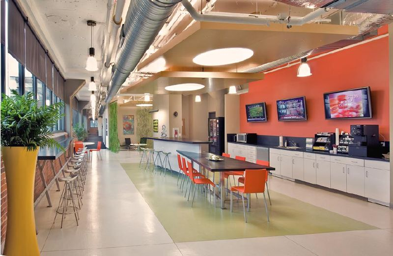 break-like space with tvs ID 4754 - Office Design Pinterest