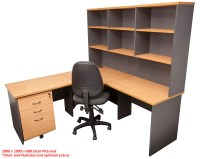 Express Corner Workstation Desk with Hutch | Office Stock