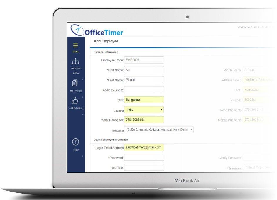 Employee Timesheet Software Officetimer